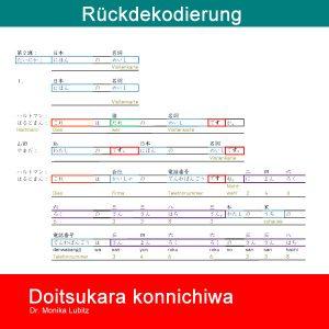 Doitsukara konnichiwa Band 2 zur Rückdekodierung