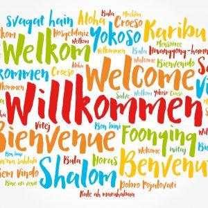 Willkommen auch auf Spanisch und Englisch...