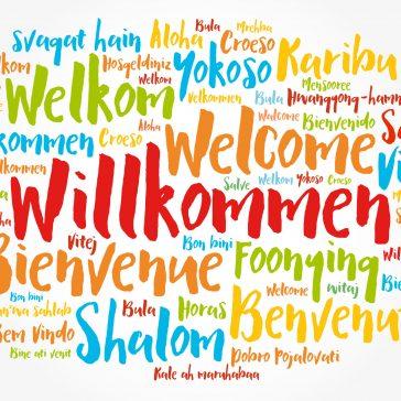 Willkommen in jeder Muttersprache